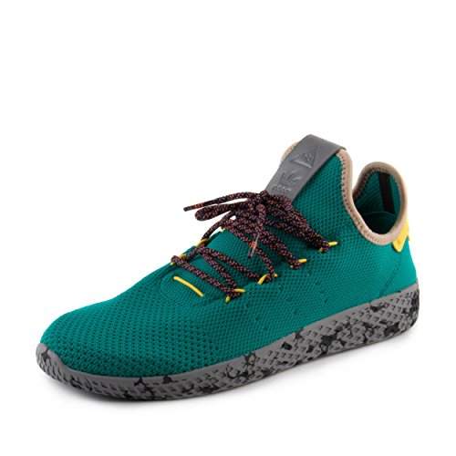 77757c119d4a6 Galleon - Adidas Mens PW Tennis Human Race Teal Yellow Fabric Size 5