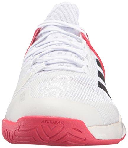 adidas Performance adizero Ubersonic del hombre 2Zapatillas de tenis White/Black/Ray Red Fabric
