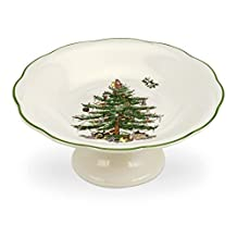 Spode Christmas Tree Sculpted Footed Candy Dish, 7-Inch by Spode