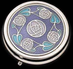 Pill Box (large size) in a Mackintosh Ring of Roses Design