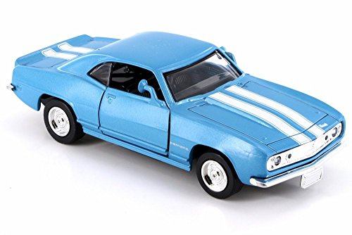 New Ray 1967 Chevy Camaro Z-28, Blue w/ White Stripes 50461 - 1/32 Scale Diecast Model Toy Car but NO Box