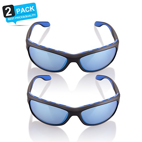TAC Polarized Sunglasses for Men & Women - Zhara Sports Sunglasses for Fishing, Driving, Golfing, Hiking, Running, Cycling and Casual Uses, 103% UV Protection Sport - Glasses Golfing Sun