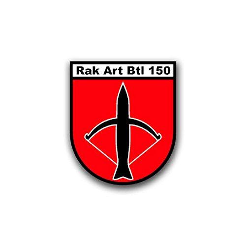 RakArtBtl 150 rocket artillery battalion army Wesel 1965 Schill barracks Bundeswehr crest Military Badge Emblem for Audi A3 BMW 3 VW Golf GTI Mercedes (6x7cm) - Sticker Wall Decoration