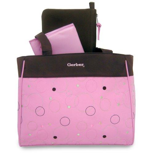 Gerber Circle Diaper Tote, Pink - Gerber Diaper Bag Shopping Results