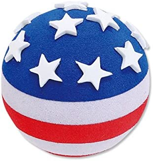 Tenna Tops American USA Patriotic Flag w Stars Car Antenna TopperRear View Mirror DanglerDesktop Spring Stand Bobble (Fits Thick Style Antenna) / Tenna Tops American USA Patriotic Flag w Stars Car Antenna TopperRear View Mirror Dan...