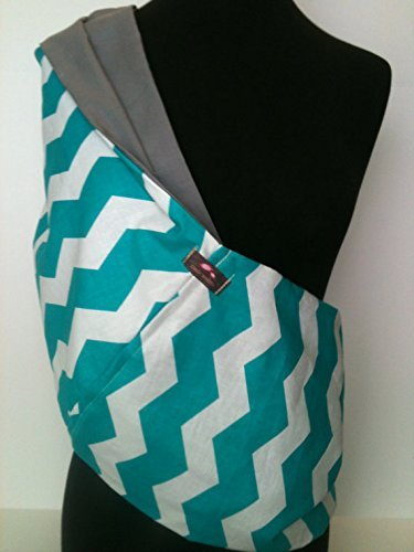 Choose Your Lining Color Gray Chevron Baby Sling  Baby Carrier