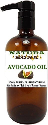 Avocado Oil Pump, 100% Pure Organic Cold Pressed Rich in Vitamin E – BIG 16 OZ Glass Pump Bottle: Great for Massages, Carrier Oil, Skin Moisturizer, Hair Conditioner, Sunburns (AVOCADO OIL, 16 OZ) For Sale