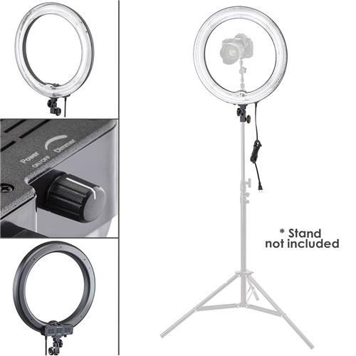 Flashpoint Photo/Video 19'' AC Powered 600W 5500K Dimmable Fluorescent Ring Light With Bag (Light Only) by Flashpoint