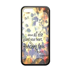 Special Bible Verse - Proverbs 4:23 Above Else, Guard Your Heart Pattern iPhone 5C pc hard(Laser Technology) Durable Back Case Shell - For iPhone 5C, For Every Thing You Do Flows from it