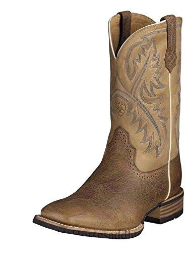Ariat Mens Quickdraw Western Cowboy Boot Tumlade Bark / Beige