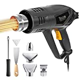 Heat Gun, TECCPO 2000W 240V Professional Hot Air Gun, Remove Paint, Varnish, Dissolve Adhesives, Shrinking PVC, Shape Plastic Tubing, 3-Temperature-Mode 50-550℃, Home Improvement Restoration
