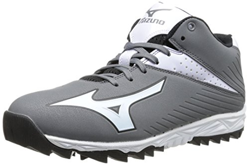 Mizuno Men's Jawz Blast 4-M, Grey/White 7.5 M US