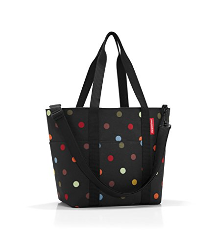 reisenthel Multibag, Carryall 10-pocket Tote with Removable Shoulder Strap, Dots