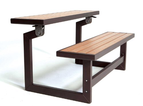 081483009322 - Lifetime 60054 Convertible Bench / Table, Faux Wood Construction carousel main 1