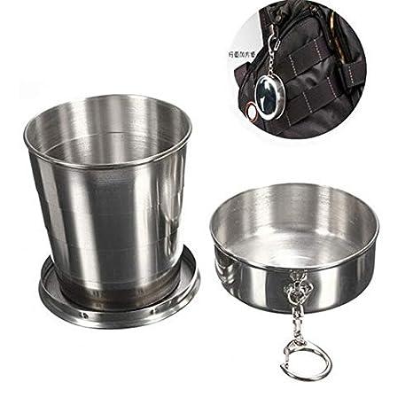 Fiesta - Vaso plegable de acero inoxidable para whisky, 250 ...