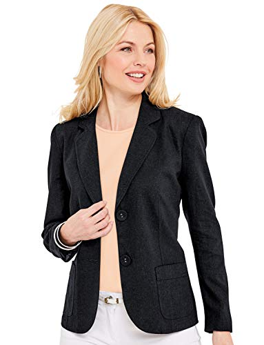 Chums Ladies Womens Tailored Linen Jacket Black