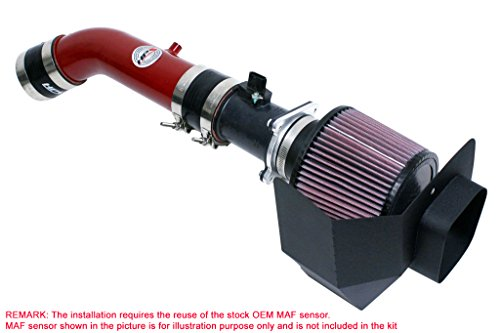 HPS 27-520R Red Shortram Air Intake Kit with Heat Shield (Cool Short Ram SRI)