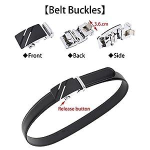 QISHI YUHUA Belt Men's Leather Ratchet Belt,pd-s-137