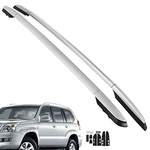 (Bestauto Cross Bar Roof Rack Cross Bars Fit for 2013-2018 Silver Aluminum OE Style Roof Rack Rail Bar Pair Fits Toyota RAV4 4Dr )