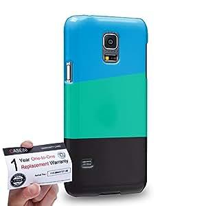 Case88 [Samsung Galaxy S5 Mini] 3D impresa Carcasa/Funda dura para & Tarjeta de garantía - Art Formal Wear Colour Blocking