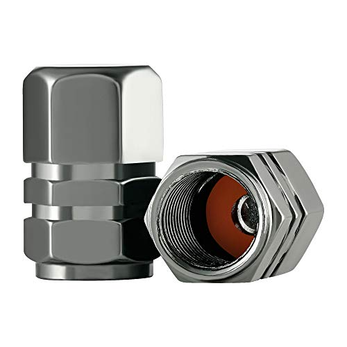car tire valve caps grey - 4