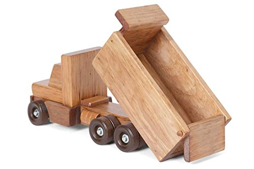 (Amish Buggy Toys Wooden Truck, Wooden Dump Truck)