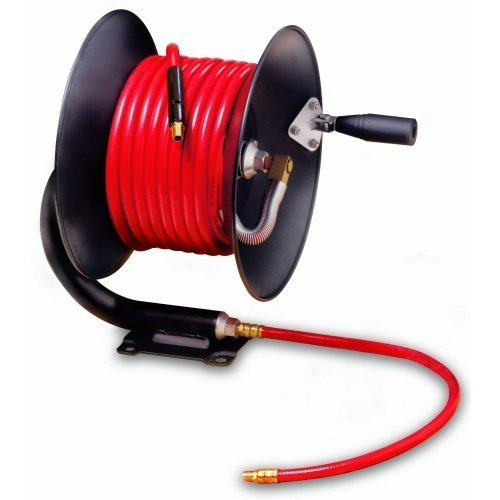 Legacy Manufacturing L8650 Workforce Series Manual Air Hose Reel with 3/8'' ID x 50' Hose by Legacy