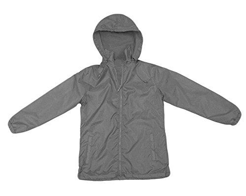 (Apparel No. 5 Women's Full Zip Nylon Shell Fleece Lined Hooded)