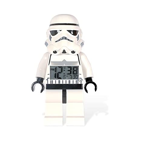 LEGO Star Wars Storm Trooper Figura Reloj Despertador: Amazon.es ...