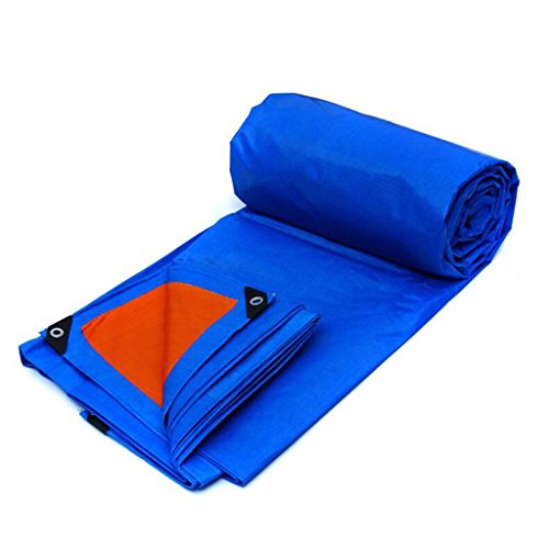 Multi-Purpose Tarps Blue Waterproof Tarpaulin Heavy Duty Tarp Ground Sheet Waterproof Cover Camping Groundsheet 175g/m² – UV Protection – Thickness 0.32mm, Multi-Size Options Heavy Duty