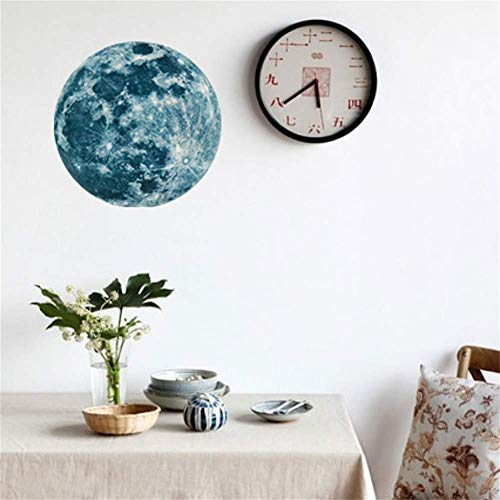 Sb Single Exhaust - 20cm Luminous Moon Earth Cartoon DIY 3D Wall Stickers for Kids Room Bedroom Glow in The Dark Wall Sticker Home Decor Living Room (12cm)