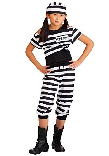 Girls Striped Prisoner Costume Large]()