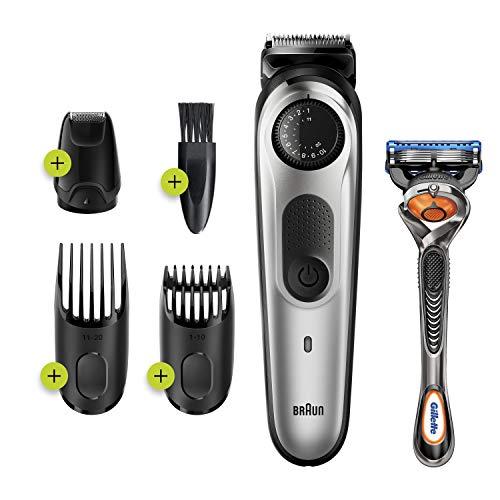 Braun Beard Trimmer BT5265, Hair Clipper for Men, 39 Length Settings, Black/Silver Metal