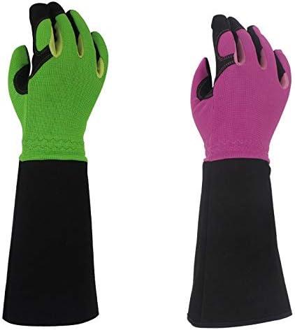 労働保護作業用手袋 男性と女性のためのローズ剪定手袋、ロングソーンプルーフガーデニンググローブ、庭師のための最高のガーデンギフト&ツール(1ペア) (Color : Purple, Size : L)