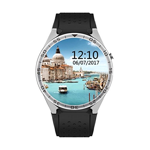 LtrottedJ Smart Watch S99C1 GSM 1G+16G Quad Core Android 5.1 Smart Watch With 5.0 MP Camera Use WiFi (C) - Leather White Digital Player Case