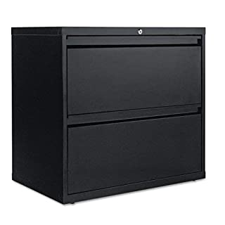 "Sandusky Lee LF8F302-09 800 Series 2 Drawer Lateral File Cabinet, 19.25"" Depth x 28.375"" Height x 30"" Width, Black"