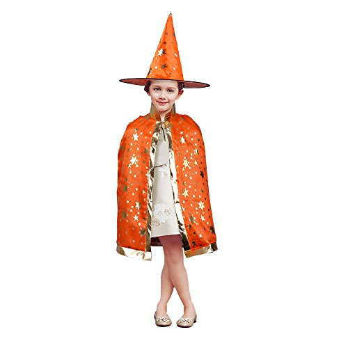 [TTLIFE Five Star Costumes dress Including Hat with Cloak for Halloween and Christmas (Orange)] (Salon Girl Costumes)