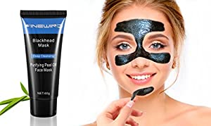 Black Mask Deep Cleansing Face Mask,Purifying Quality Black Peel off Charcoal Mask, Tearing Style Resist Oily Skin Strawberry Nose Acne Remover Black Head Mud Mask