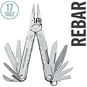 LEATHERMAN - Rebar Multitool, Stainless Steel with Leather Sheath (FFP)