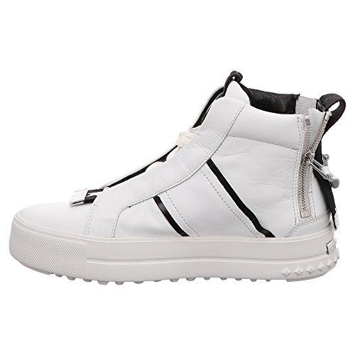 8124530627 amp; Weiß Weiß Blanc Femme Schmenger Baskets pour Kennel Eqwd7Z47