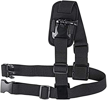 Session Black Silver Fusion and Sjcam with J-Hook Mojosketch Chest Mount Harness Chesty Strap for Gopro Hero 8 7 6 5 4 3 3 Fully Adjustable Strap Size Elastic Action Camera Body Belt Harness