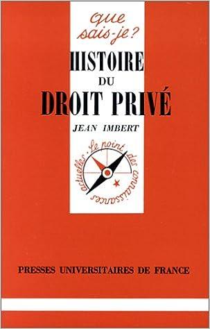 Livre gratuits Histoire du droit privé pdf ebook