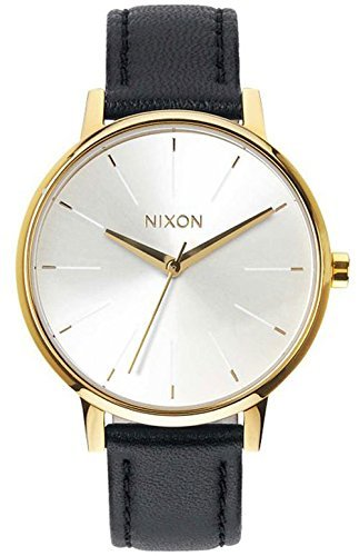 Nixon A108-1964 Ladies The Kensington Leather Gold White Black Watch
