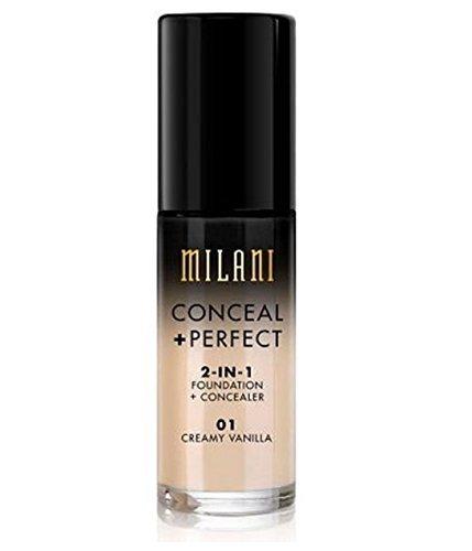 (MILANI Conceal + Perfect 2-In-1 Foundation + Concealer – Creamy Vanilla)