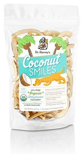 Dr. Harvey's Coconut Smiles Organic Dehydrated Coconut Treat for Dogs, 8-Ounce