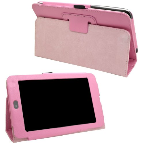 SAMRICK - ASUS Google Nexus 7 - Baby Lipstick Pink Executive Specially Designed Leather Book Wallet Case With Pen/Stylus Pen Holder