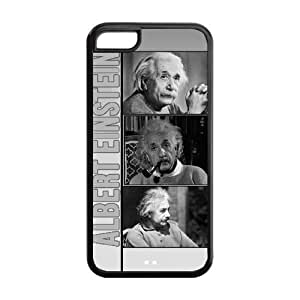 Albert Einstein Super Fit iPhone 5c Cases Solid Rubber Customized Cover Case for iPhone 5c 5c-linda1215