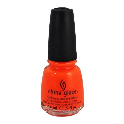 China Glaze Nail Polish Wow Factor ORANGE KNOCKOUT Lacquer 70641 Salon .5 oz FUN