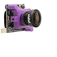 nidici Micro 600TVL FPV Camera 2.1mm Lens DC 5-36V FOV 160 Degree CCD NTSC IR Blocked for Racing Drone Quadcopter (purple)