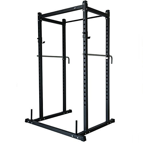 Power Rack Squat Lift Cage Deadlift Bench Racks Stand Cross Fit With Weight Holder by BUY JOY